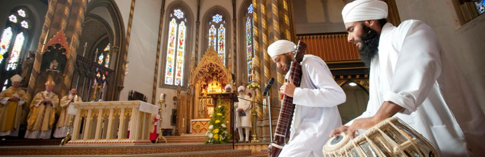 Singing of Kirtan during Papal Knighthood Ceremony