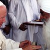 Bhai Sahib paying respects to Pope John Paul II