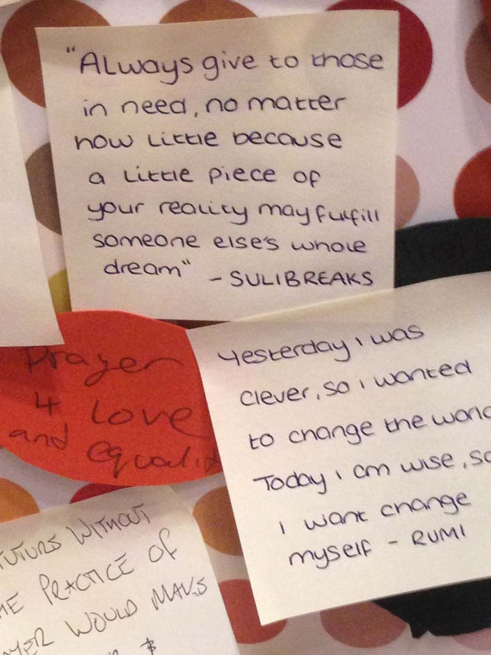 Prayer Tree comment -always give to those in need...