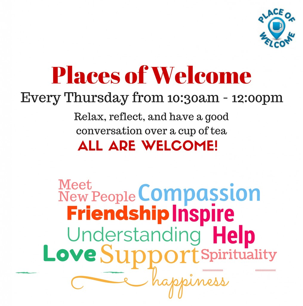 Thursday places of welcome poster NEW